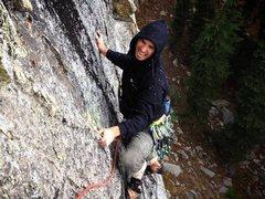 Rock Climbing Photo: Borden pinching Tufa Dikes