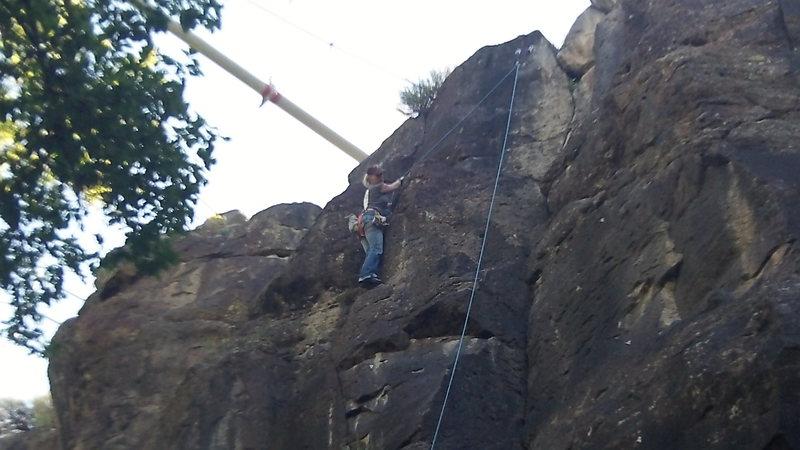 Rock Climbing Photo: Laurie Allard nearing the top.
