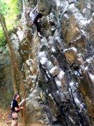 Rock Climbing Photo: Mitch belaying me up Jay's.