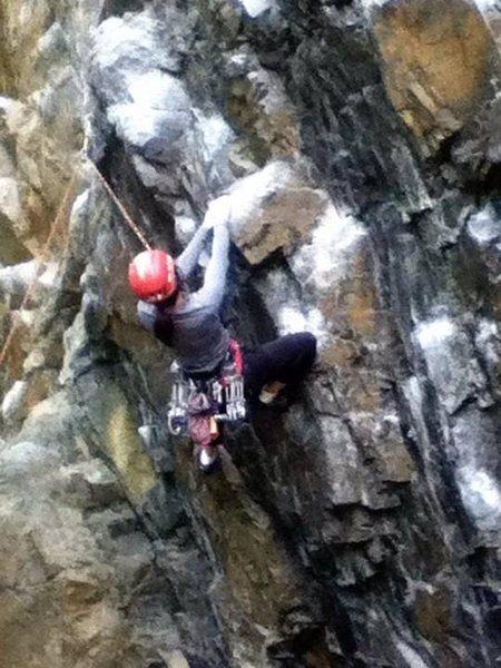 Rock Climbing Photo: The pumpy start.