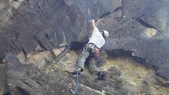 Rock Climbing Photo: Ashley Allard at the second bolt.