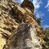 Enjoying Gargoyle on a fine fall afternoon, courtesy of Alpine Endeavors!