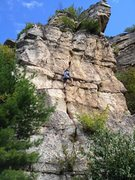 Rich Gottlieb in action on the crux of Ringwraith