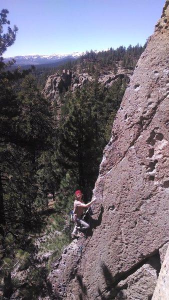 euan nearing the top