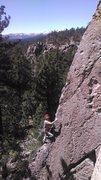 Rock Climbing Photo: euan nearing the top