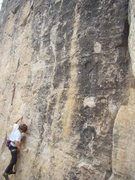 Rock Climbing Photo: Jack on Cleveland Steamer, 5.11b Bradyism Wall, Bi...