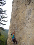 Rock Climbing Photo: Chris on Open Your Mouth and Say AAHHH!  This clas...