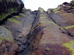 "Characteristic of the area, ""stemming around the crux"" on Electric Shock :)"