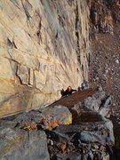 Rock Climbing Photo: Pitch 2 direct