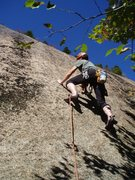 Rock Climbing Photo: Opening moves of Sir Bors Dream