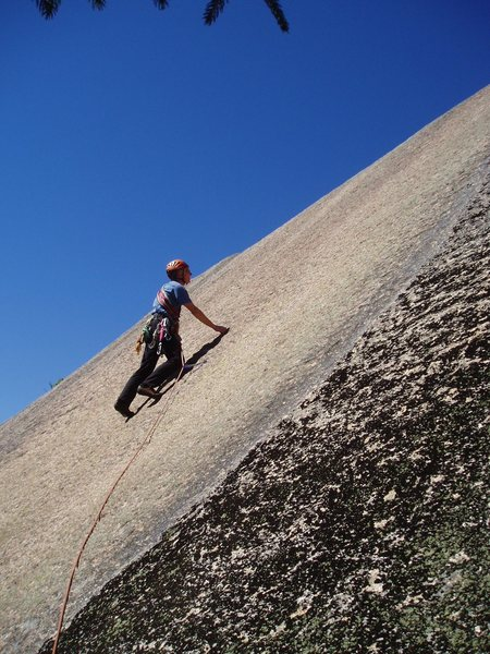 Rock Climbing Photo: K. Winkler at Bolt#1 on Merlin's Wand, Merlin is 6...