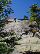 Rock Climbing Photo: Sir Bors Dream - Pitch 2 (5.7+ to 5.8) as climbed ...