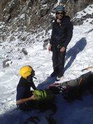 Rock Climbing Photo: Don Santiago and Don Carlos gearing up at base