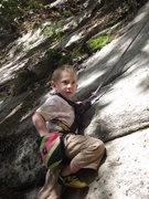 Rock Climbing Photo: Zackary starting off