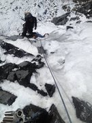 Rock Climbing Photo: Carlos finishing first pitch.
