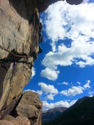 Rock Climbing Photo: Grotto Wall Traverse, P3, Independence Pass