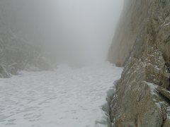 Late summer conditions? Coldest on record in my Sierra experience: blizzard with temps in the low teens but ice was nice!