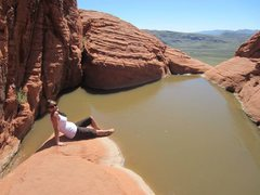 Rock Climbing Photo: What a nice surprise after a fun climb.