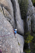 Rock Climbing Photo: Henning Boldt on the awesome last moves of Thror. ...