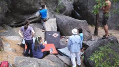 Rock Climbing Photo: We have enough spotters and pads.