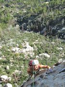 Rock Climbing Photo: Sereia near the top of the second pitch.