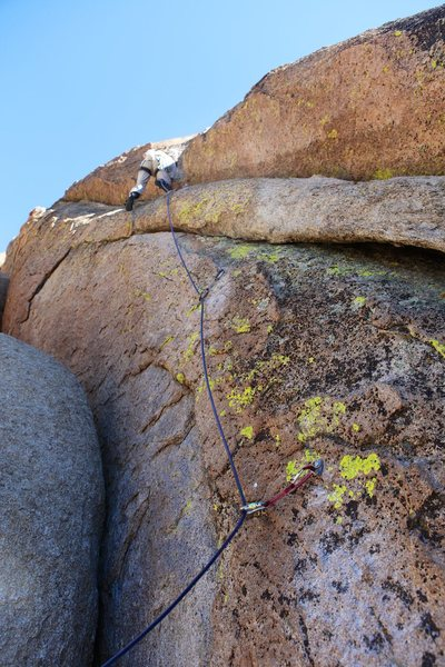 Rock Climbing Photo: Approaching the step up onto the slabby face on th...