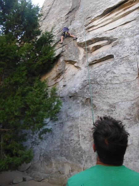 Rock Climbing Photo: Dragan giving it to Towaway Zone