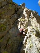 Rock Climbing Photo: Amanda Moyer below the crux of the route.