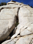 Rock Climbing Photo: The start of 'Core Blimey' - the first crux (5.9) ...