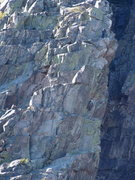 Rock Climbing Photo: The 5.8 Alternate pitch. Leader is just above the ...