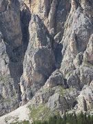 Rock Climbing Photo: Punta Alpini; the route stays on the ridge crest f...