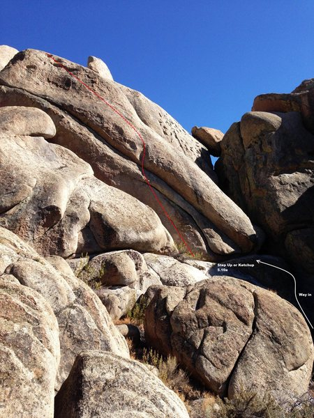 Rock Climbing Photo: Overview picture for the far left area on the nort...