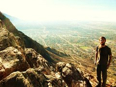 Rock Climbing Photo: climbing above ogden