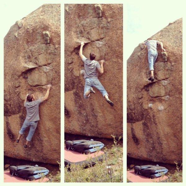 Rock Climbing Photo: Building Blocks, v6-