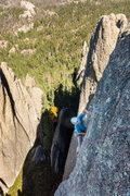 Rock Climbing Photo: Henning Boldt on the final arete of Fool for a Too...