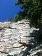 Rock Climbing Photo: Looking up the 3rd pitch or RMC