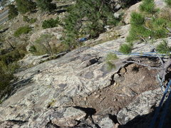 Rock Climbing Photo: The lower part of the route I climbed.  Probably n...