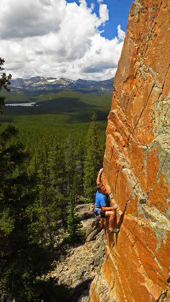 Eye Candy Arete, near Sheridan, WY. Trevor Bowman photo credit.