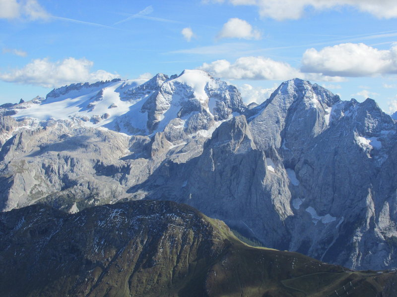 Queen of the Dolomites: The Marmolada and it's glacier.