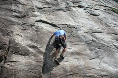 Rock Climbing Photo: first trad lead