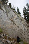 Rock Climbing Photo: Will high up on Little Gem