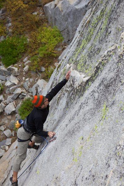 Rock Climbing Photo: Crux pop to the quartz dike