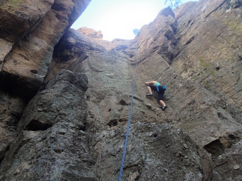 Rock Climbing Photo: In the middle of the climb - likely the most fun p...