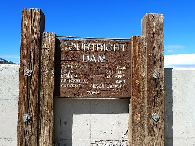 Courtright Dam, Courtright Reservoir