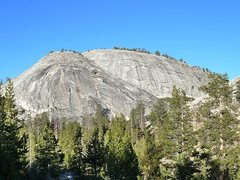 Rock Climbing Photo: Penstemon Dome and Dusy Dome, Courtright Reservoir