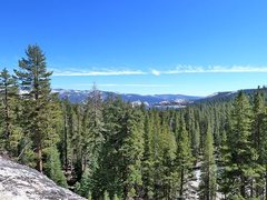 Rock Climbing Photo: The view from Trapper Dome, Courtright Reservoir