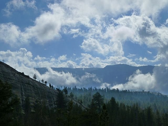 Rock Climbing Photo: Punk Rock and clouds, Courtright Reservoir