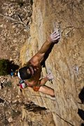 "Rock Climbing Photo: Climbing ""Flesh Tuxedo"" at Shelf Road, C..."