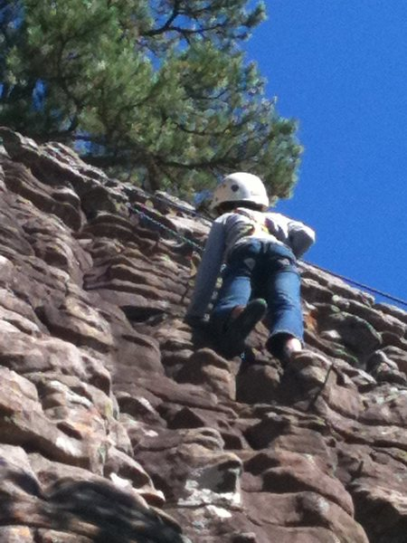 Rock Climbing Photo: Jahlil, age 8, smoking Sliders. Photo by Boogie