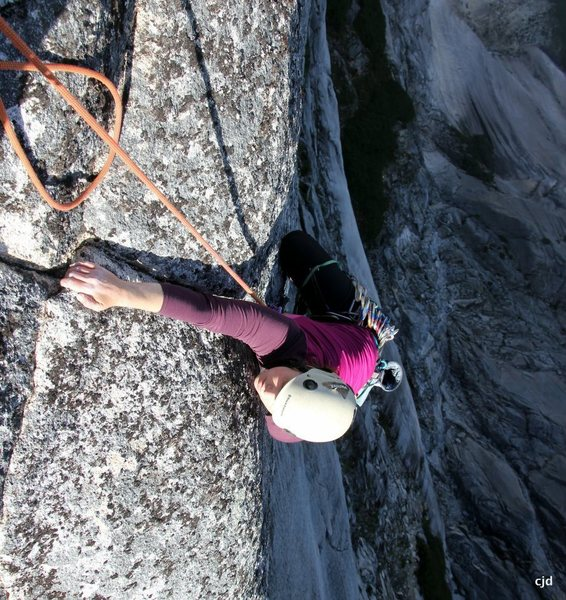 Katie reaches the top out jug - such an incredible finish!
